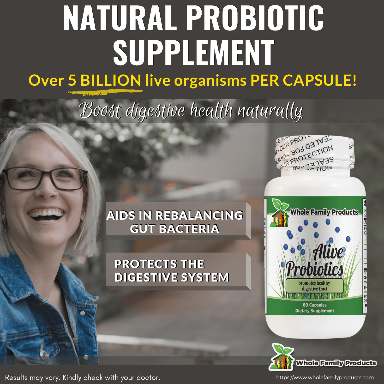 Alive Probiotics Natural Probiotic Supplement WFP Infographics